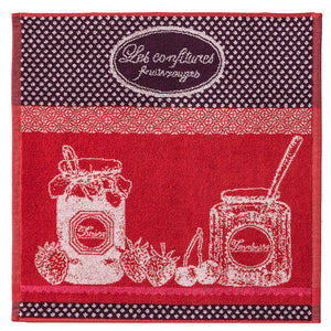 Coucke Terry Square Towel - Confiture Fruits Rouge (Red Fruit Jam)