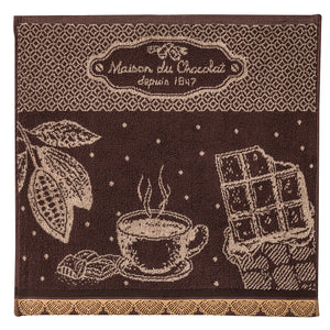 Coucke Terry Square Towel - Maison du Chocolat (Chocolate House)