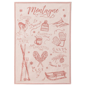 Coucke A La Montagne (At the Mountain) French Jacquard Dish Towel