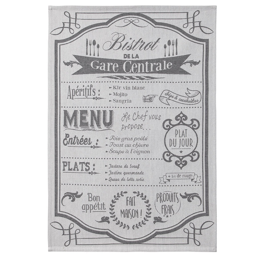 Coucke Au Menu (On the Menu) French Jacquard Dish Towel