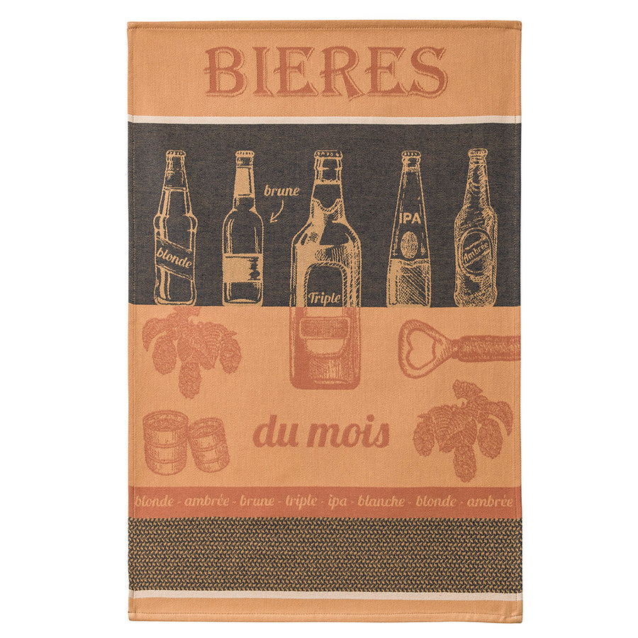 Coucke Biere du Mois (Beer of the Month ) French Jacquard Dish Towel