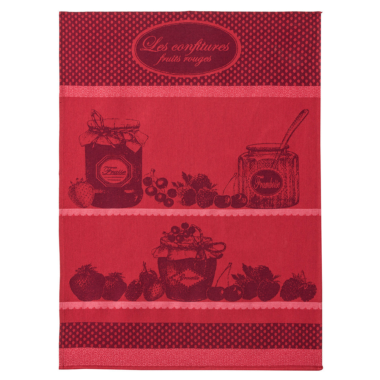 Coucke Confiture Fruits Rouge French Jacquard Dish Towel I Dream