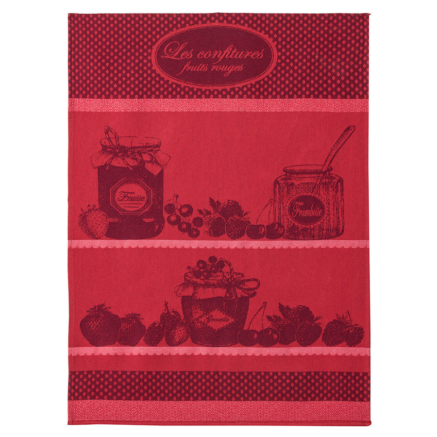 Coucke Confiture Fruits Rouge French Jacquard Dish Towel