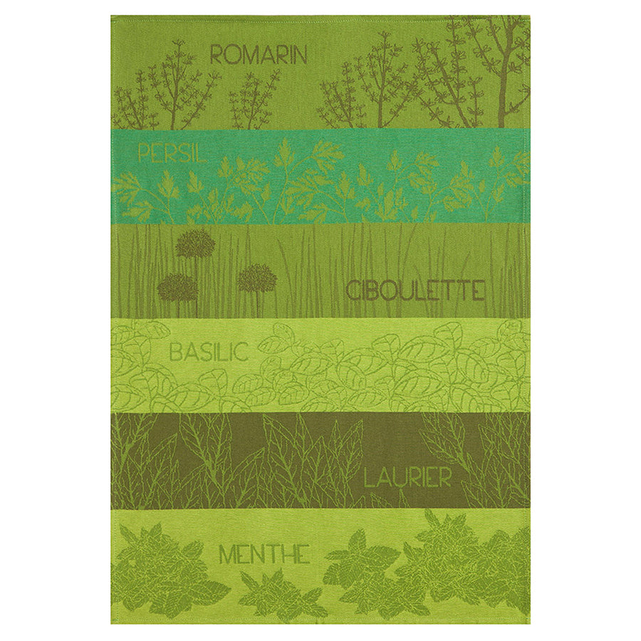 Coucke Herbes Aromatiques (aromatic herbs) French Jacquard Dish Towel