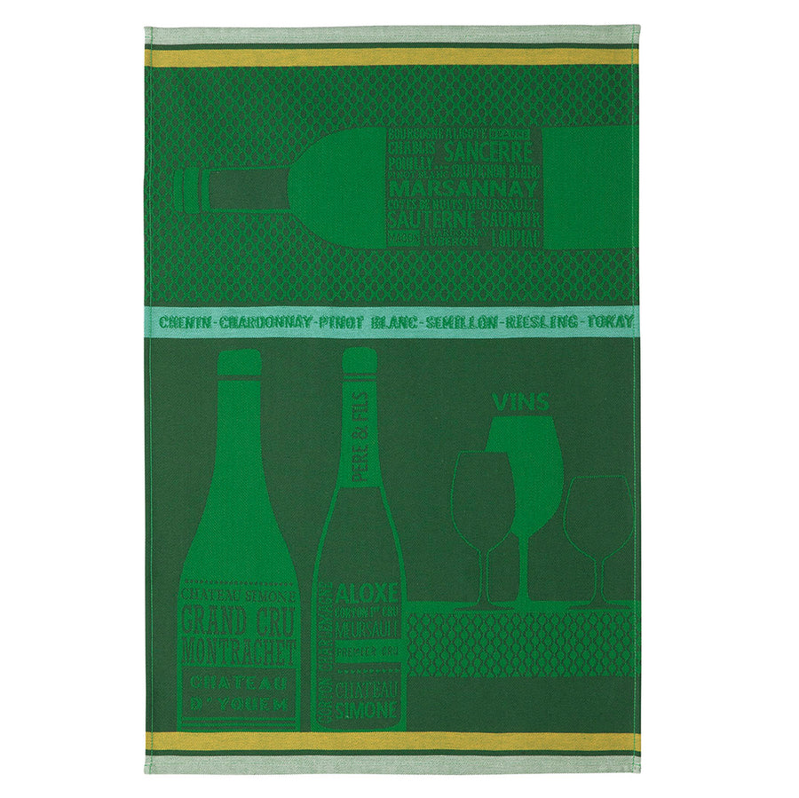 Chardonnay French Jacquard Cotton Dish Towel by Coucke