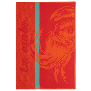 Crab French Jacquard Dish Towel by Coucke