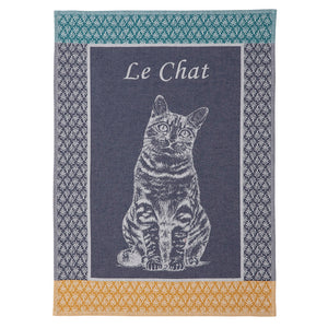 Le Chat French Jacquard Dish Towel by Coucke