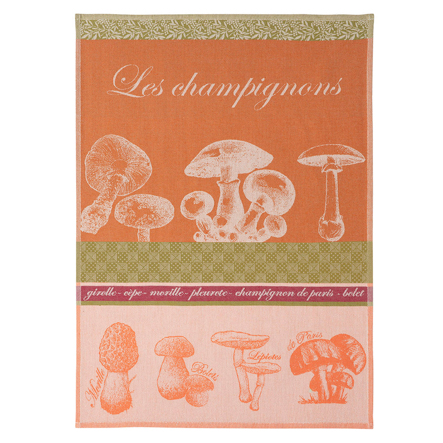 Mushroom (Champignon) French Jacquard Dish Towel by Coucke