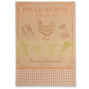 Poule au Pot French Jacquard Dish Towel by Coucke