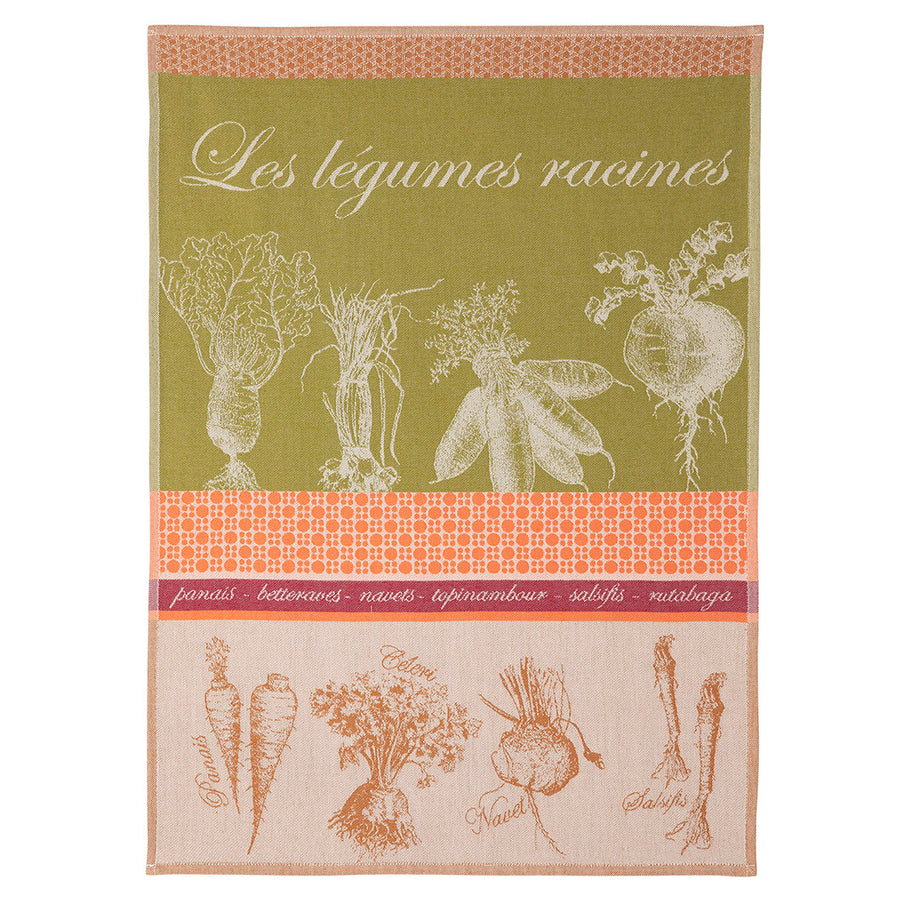 Root Vegetables French Jacquard Dish Towel by Coucke