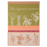 Root Vegetables French Tea Towel by Coucke