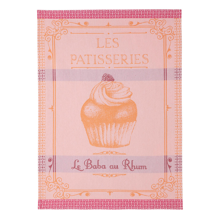 Rum Baba French Jacquard Cotton Dish Towel by Coucke