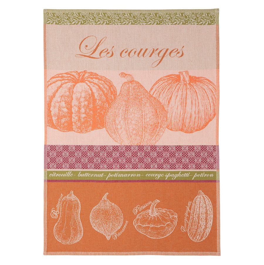 Squash (Courges) French Jacquard Dish Towel by Coucke