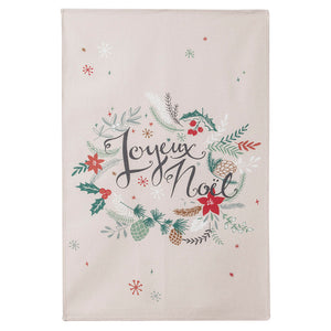 Joyeux Noel (Merry Christmas) French Cotton Dish Towel by Coucke