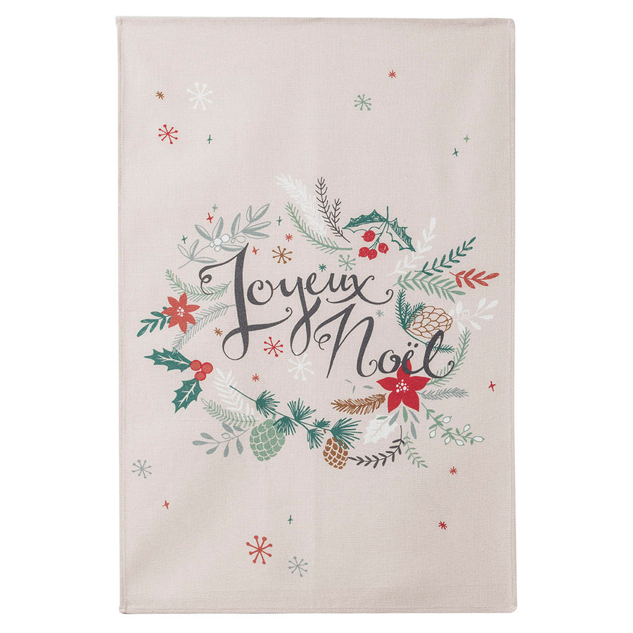 Coucke Joyeux Noel (Merry Christmas) French Cotton Dish Towel