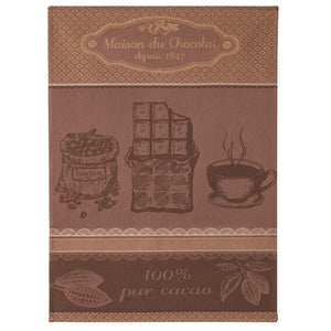 Coucke Maison du Chocolat (Chocolate House) French Jacquard Dish Towel