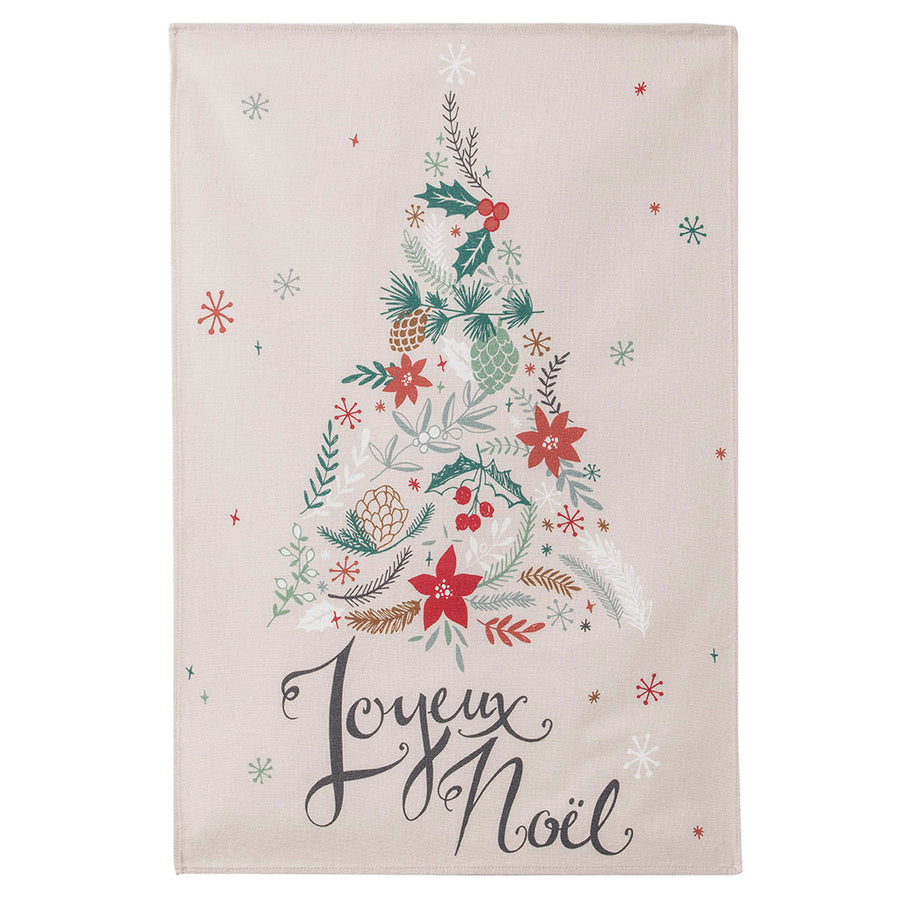 Coucke Sapin de Noel (Christmas Tree) French Cotton Dish Towel