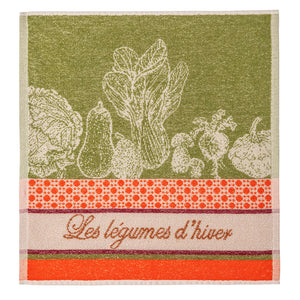 Winter Vegetables (Legumes d'Hiver) Terry Square Towel by Coucke