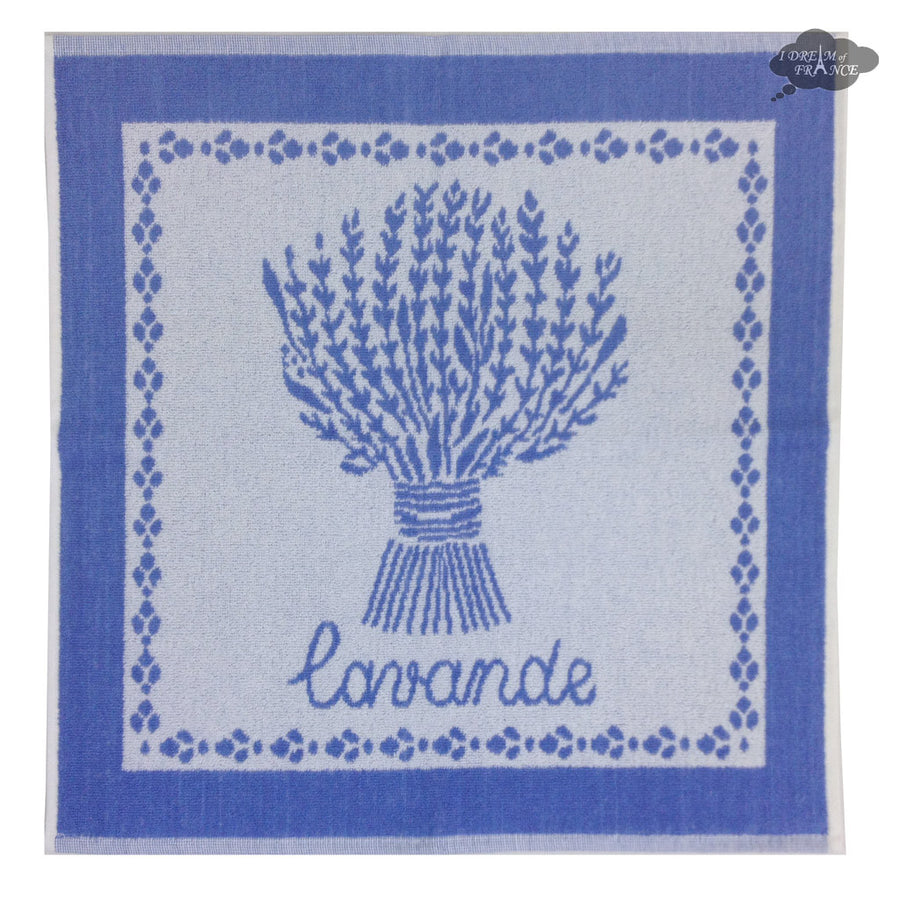 Coucke Terry Square Towel - Lavande Blue