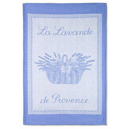Coucke La Lavande de Provence French Dish Towel - Blue