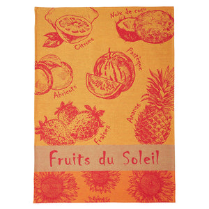 Coucke Fruits du Soleil French Jacquard Dish Towel