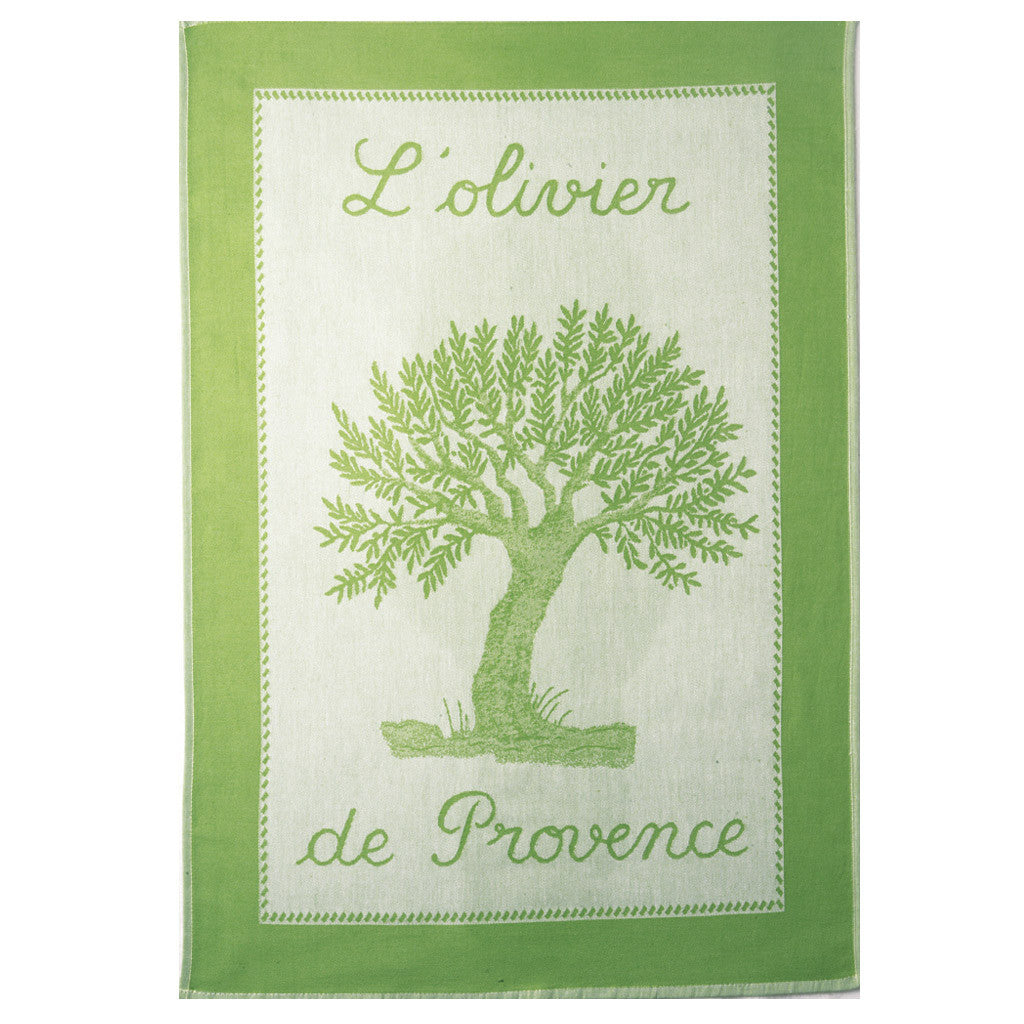 Coucke L'Olivier de Provence Amande French Dish Towel