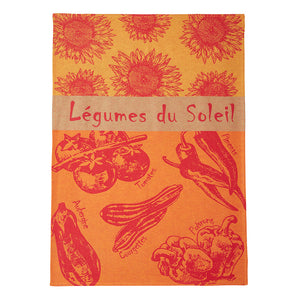 Legumes du Soleil French Jacquard Dish Towel by Coucke