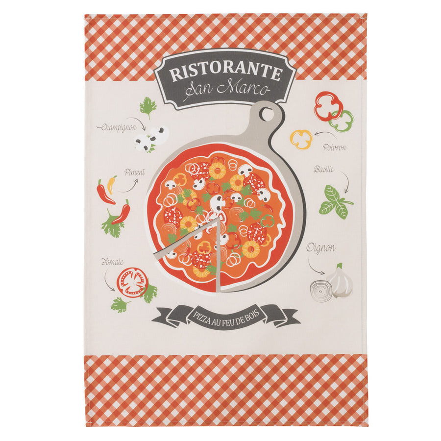 Coucke Pizza French Cotton Dish Towel