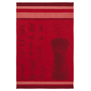 Salt (Le Sel) French Jacquard Dish Towel by Coucke