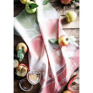 Coucke Pommier Rouge French Jacquard Dish Towel