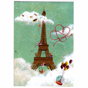 Eiffel Tower in the Clouds Greeting Card