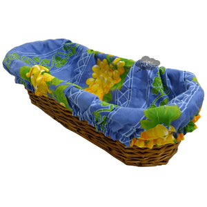 Grapes Blue French Baguette Basket with Removable Liner by Le Cluny