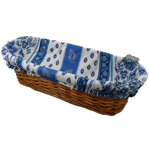 Lisa White French Baguette Basket with Removable Liner by Le Cluny