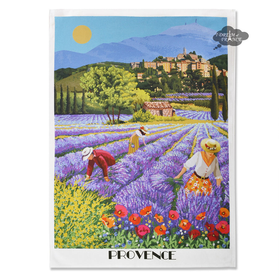 Provence Lavender Fields French Kitchen Towel by L'Ensoleillade