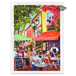 Provence Bistro French Kitchen Towel by L'Ensoleillade