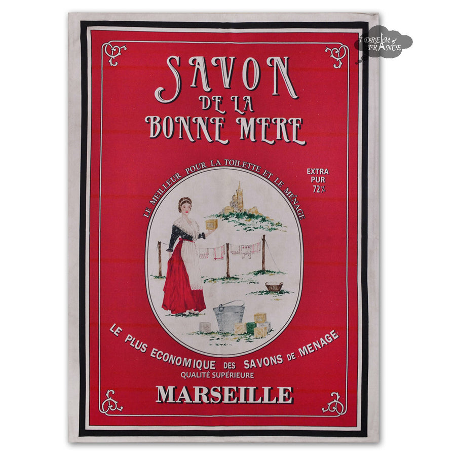 Savon de la Bonne Mere French Kitchen Towel by L'Ensoleillade