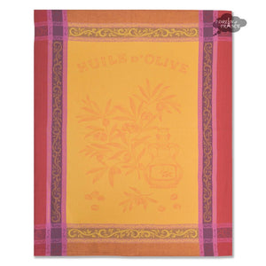 Olive Yellow Cotton Jacquard Dish Towel