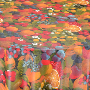 Fruit Salad Coated Cotton Tablecloth by Tissus Toselli - Close Up