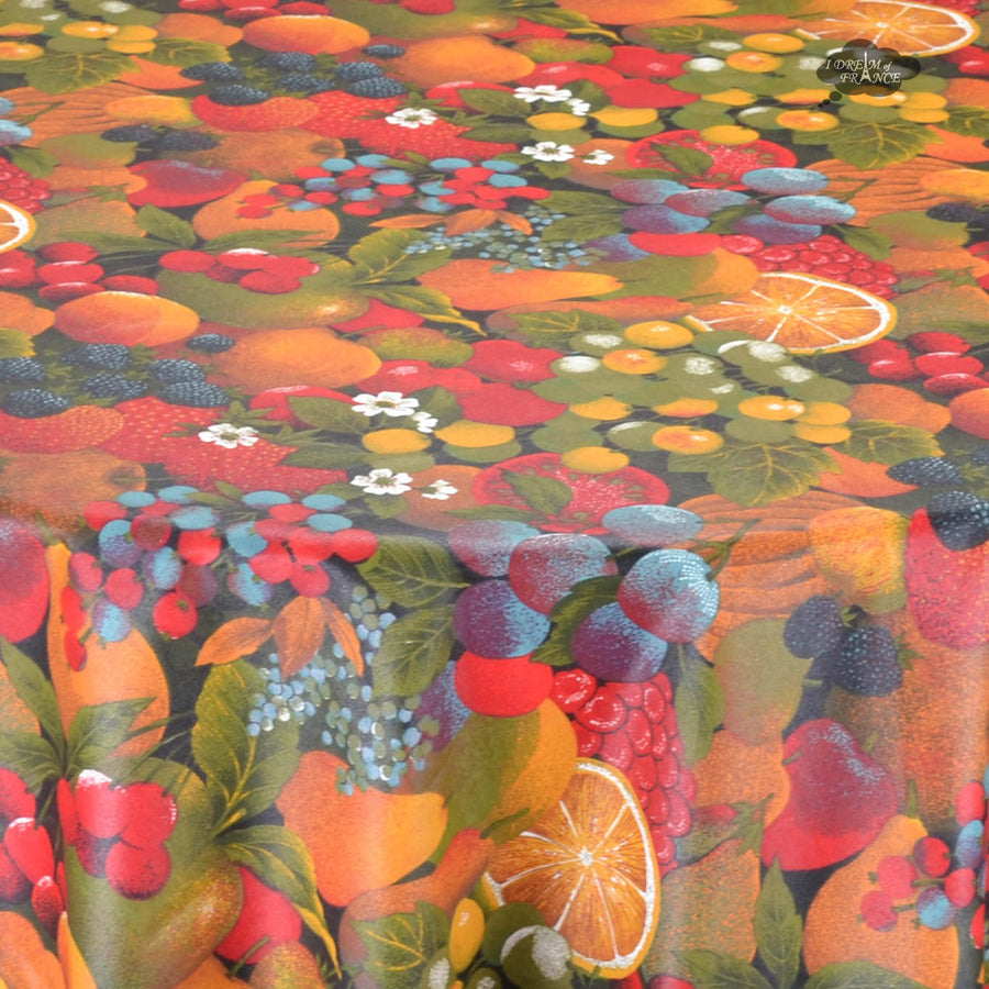 Fruit Salad Coated Cotton Tablecloth by Tissus Toselli