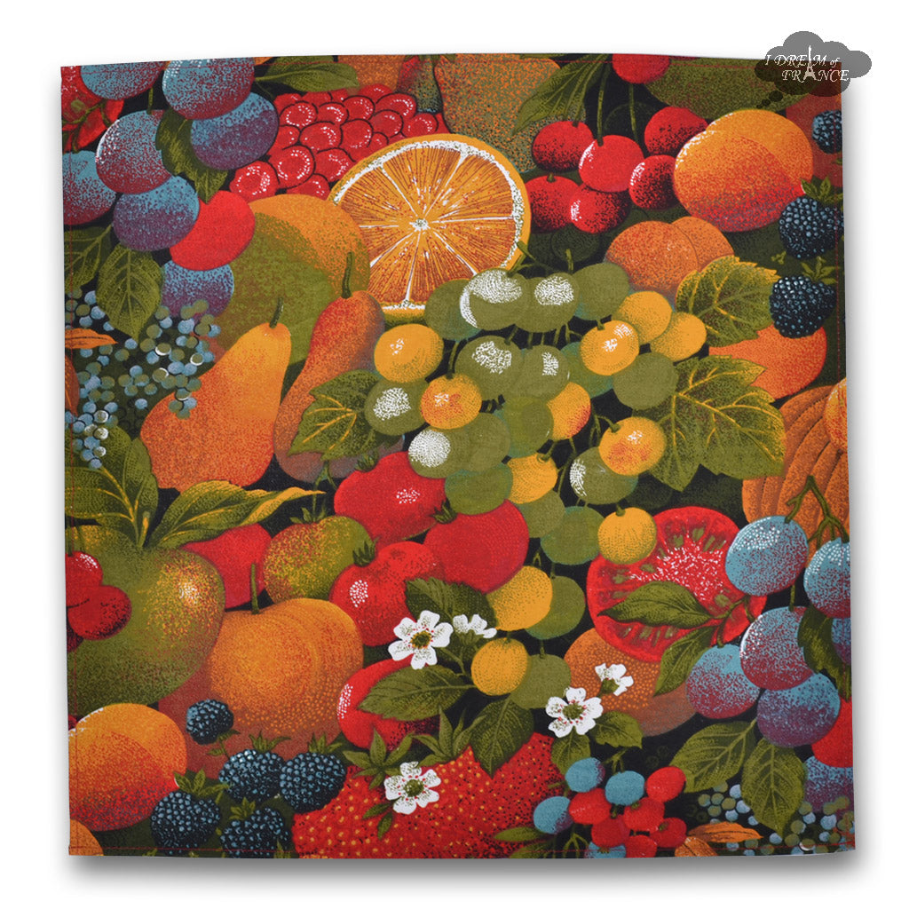 Fruit Salad Provence Cotton Napkin by Tissus Toselli
