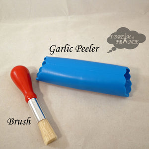 Brush and Peeler for Garlic Grinding Plate