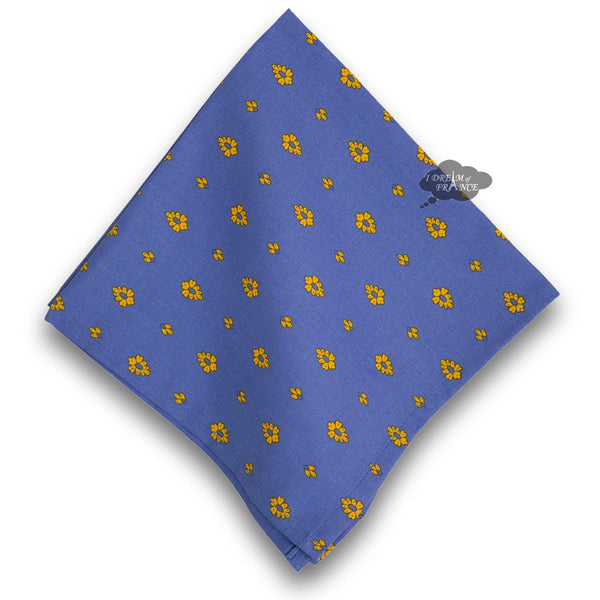 Grapes Blue Provence Cotton Napkin by Le Cluny