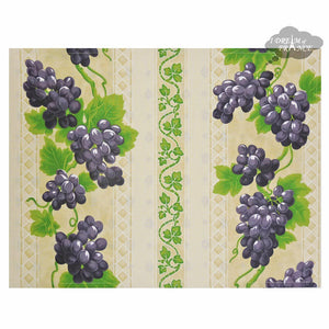Grapes Cream Coated Reversible Placemat by Le Cluny