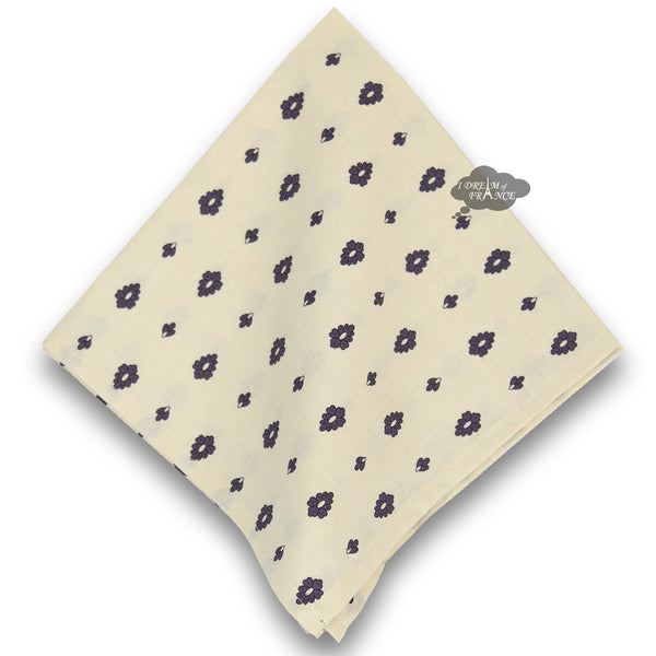 Grapes Cream Provence Cotton Napkin by Le Cluny