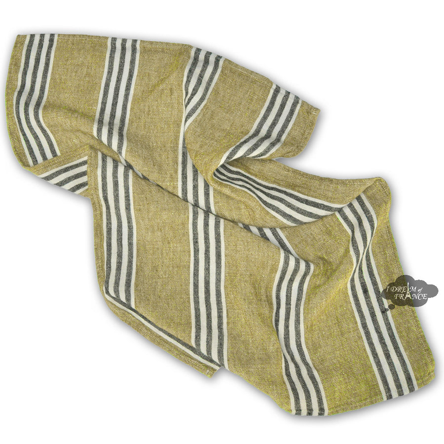Corte Absinthe French Linen Kitchen Towel by Harmony