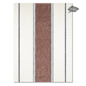 Lecci Clay French Linen Kitchen Towel by Harmony