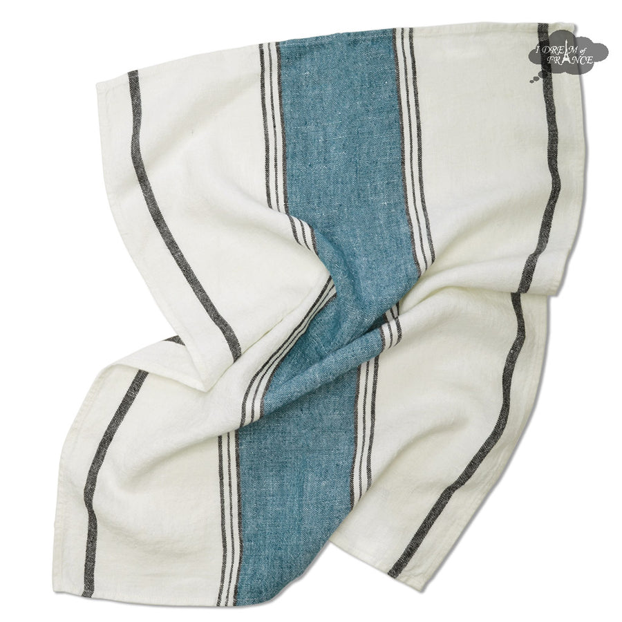 Lecci Dusk French Linen Kitchen Towel by Harmony