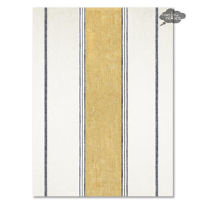 Lecci Safran French Linen Kitchen Towel by Harmony