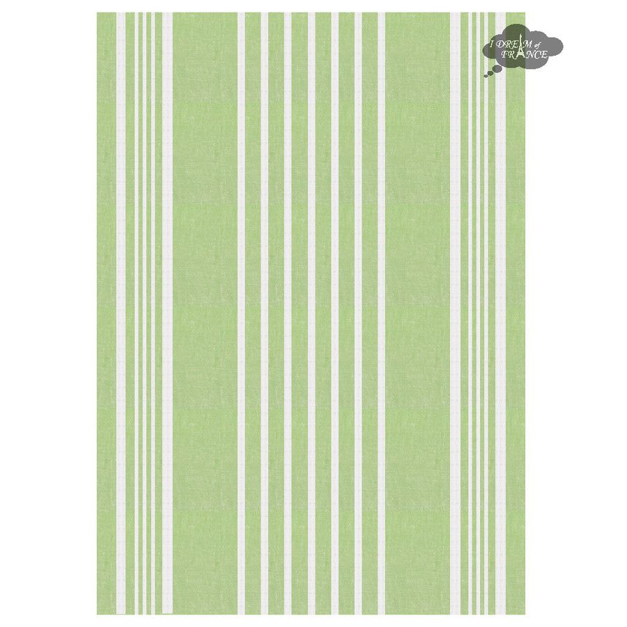 Harmony Linea French Linen Kitchen Towel - Green