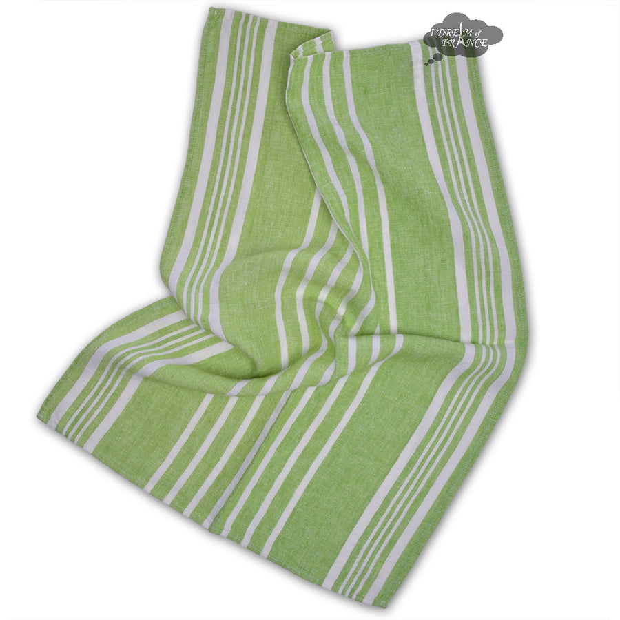 Linea Green French Linen Kitchen Towel by Harmony